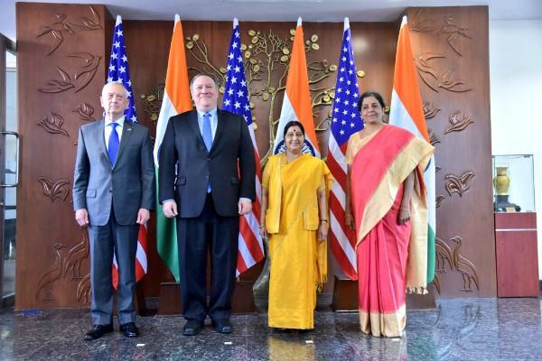 india and us first two plus two talks today