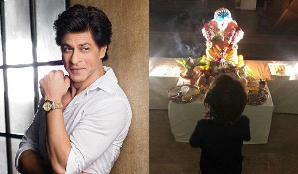शाहरुख ने घर में किया गणपति का स्वागत, 'पप्पा' के साथ शेयर की बेटे अबराम की तस्वीर
