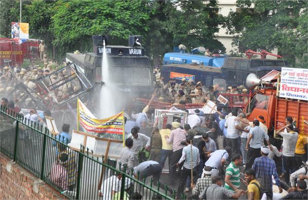 ut police intervened in panchkula