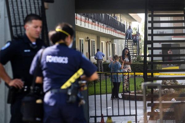 california apartment complex shot dead 8 injured
