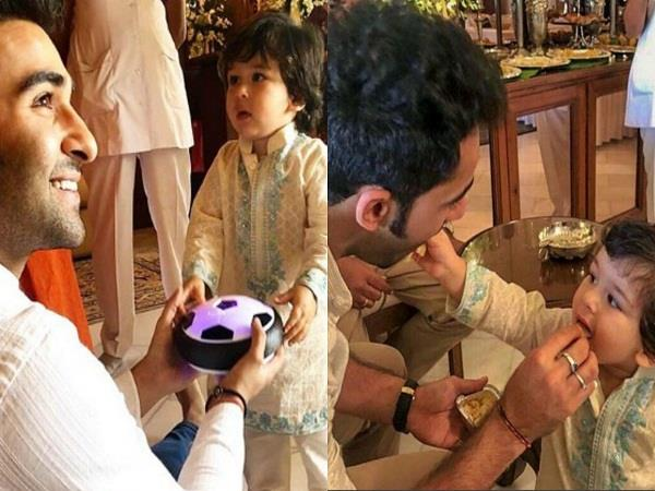 taimur ali khan is playing with mama aadar jain