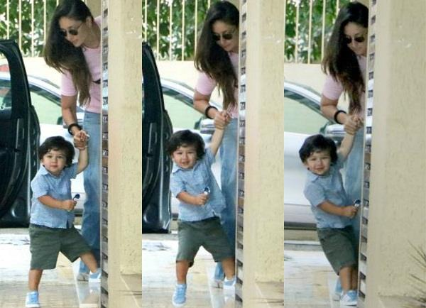 taimur latest pictures with mommy kareena