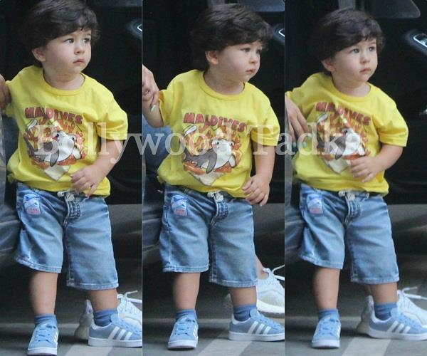 taimur spotted at bandra with mommy kareena