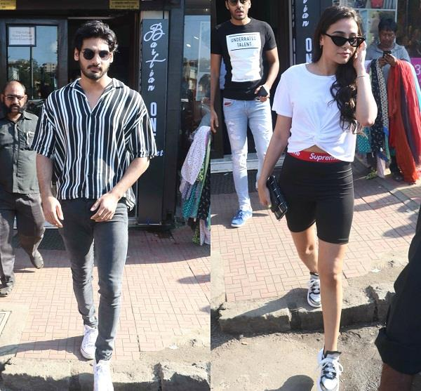ahan shetty spotted with girlfriend tanya