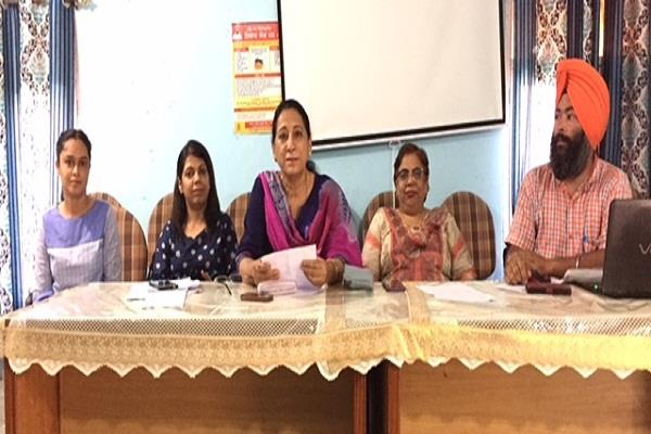 review meeting of lh group of the district led by civil surgeon rupnagar