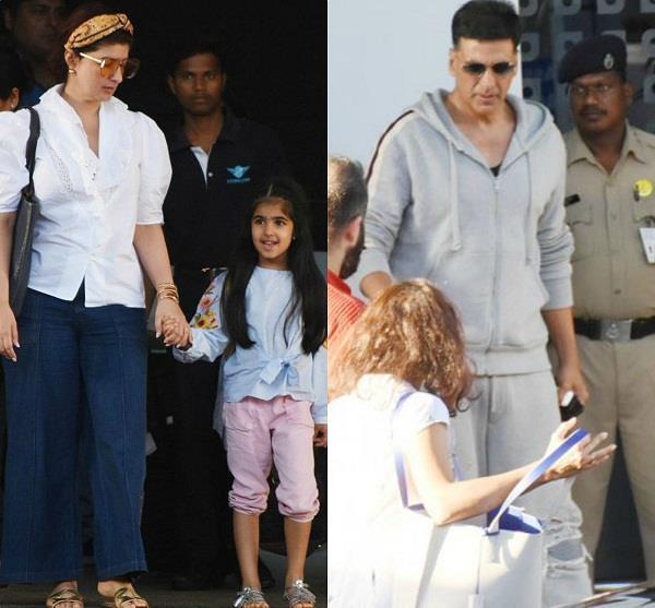 पत्नी और बेटी नितारा के साथ जैसलमेर से लौटे अक्षय, तस्वीरें आईं सामने