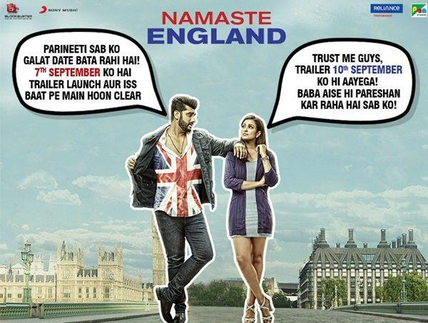 arjun and parineeti creat confusion over namaste england trailer release date