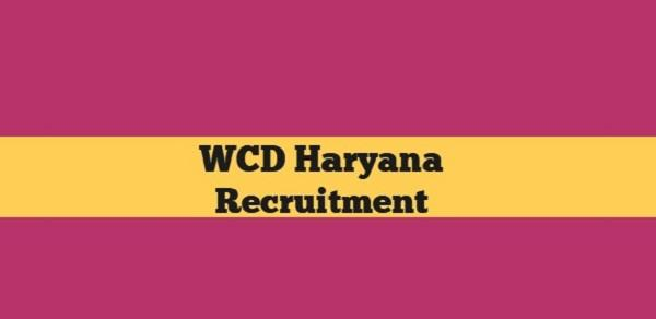 wcd haryana recruitment 2018