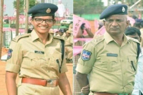 dcp father salute his sp daughter