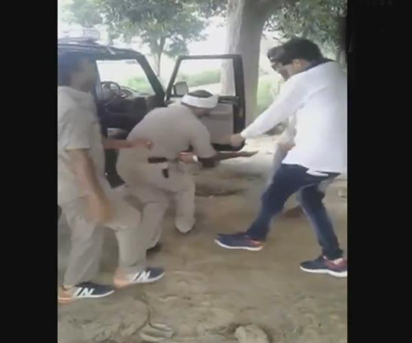 up police threw a lot of fatigue during the duty video viral