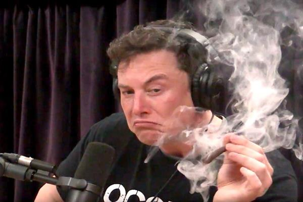 tesla ceo alan musk flew ganja and drink alcohol in live show