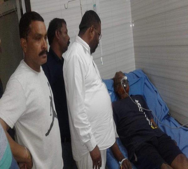 man injured due to gas