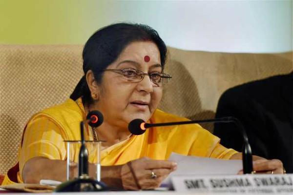 sushma swaraj condoles mourning of nawaz sharif wife