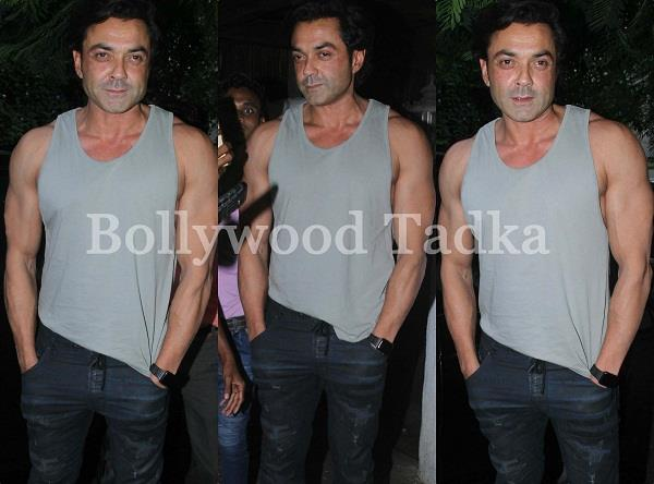 bobby deol spotted at bandra