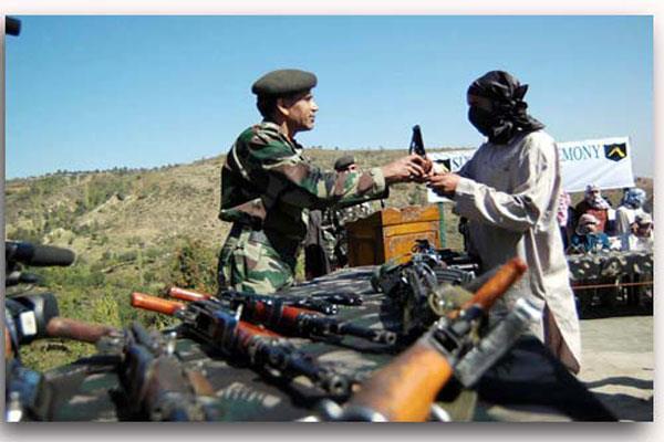 militant surrender in central kashmir