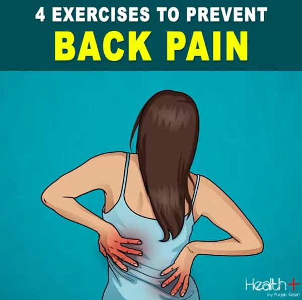 due to lack of exercise and not getting proper nutrition back pain