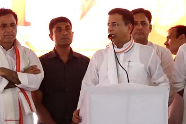 live randeep surjewala in panipat