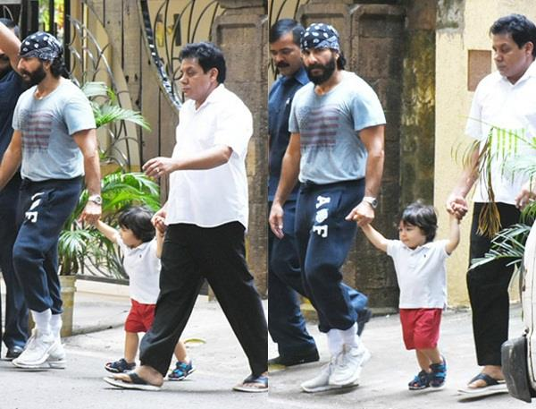 taimur spending time with father saif