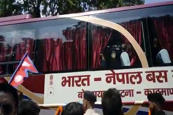bus service starts from bihar to nepal
