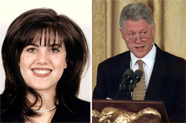 monica lewinsky storms off stage after being asked about bill clinton