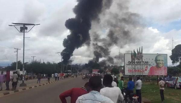 nigeria gas tanker blast 35 people die