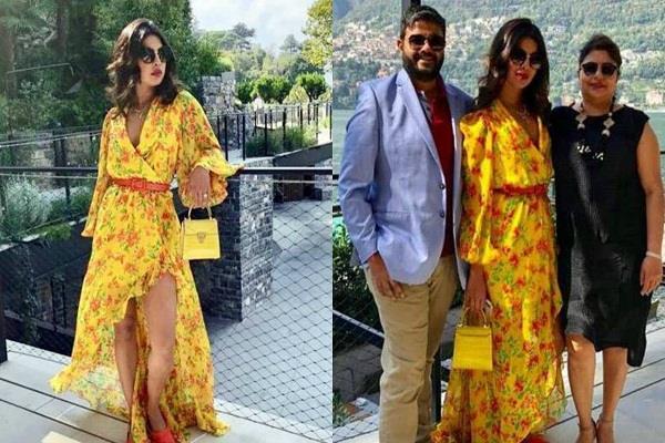 priyanka chopra enjoys holiday with family in italy