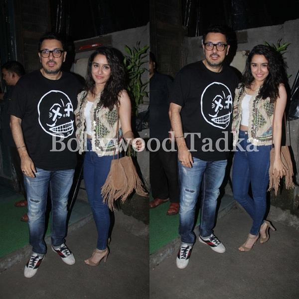 shraddha kapoor spotted with film stree producer dinesh vijan