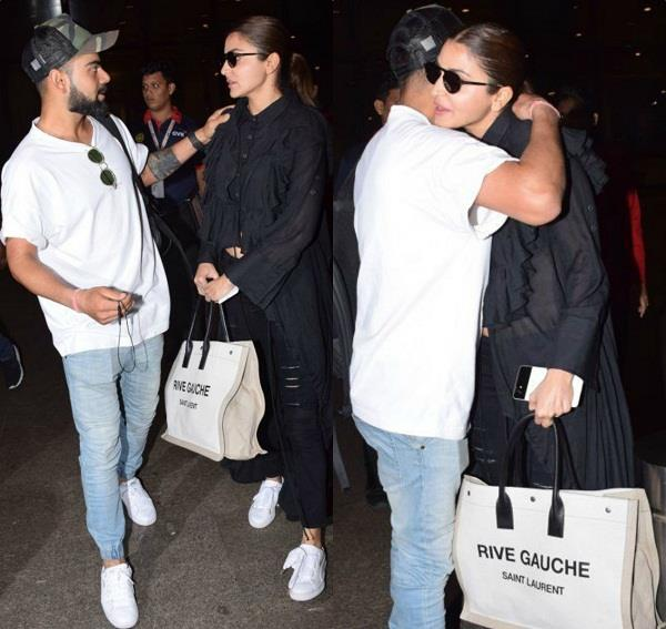 anushka and virat spotted at airport