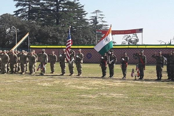 indian and american forces organized joint exercises in the army cantonment