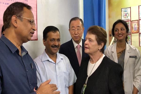 ormer general secretary impressed kejriwal mohalla clinic