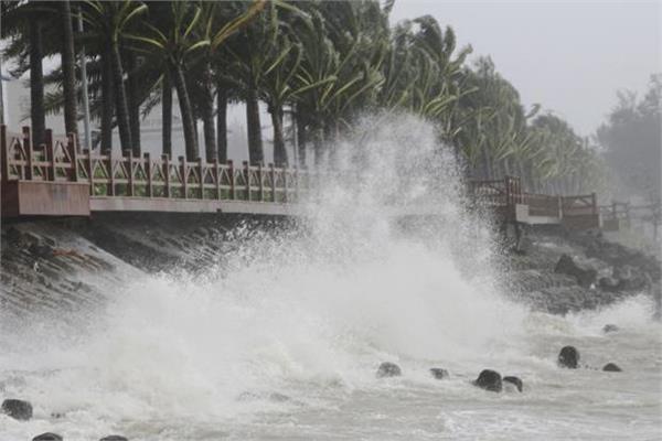 storm surge towards china