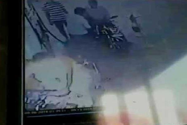 bike rider catch fire in a petrol pump