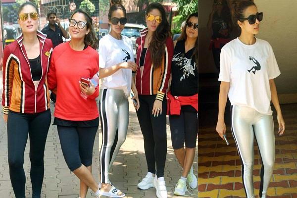 kareena malaika amrita spotted outside the gym