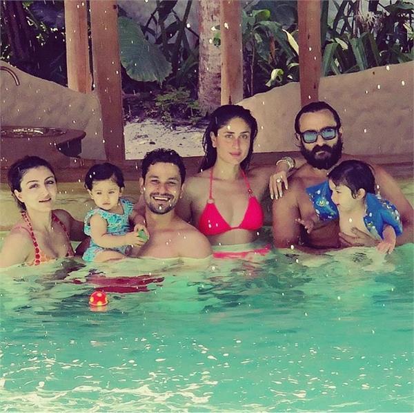 kareena kapoor saif ali khan and taimur pick maldives to chill with soha