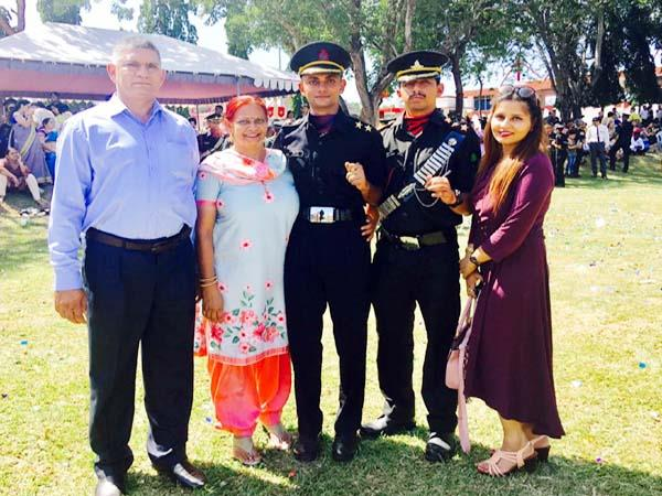 little brother in the footsteps of elder brother lieutenant post in army