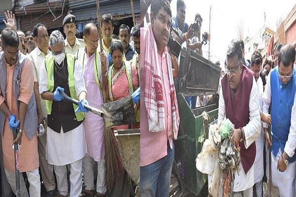cleanliness drive launched under cleanliness campaign in bihar