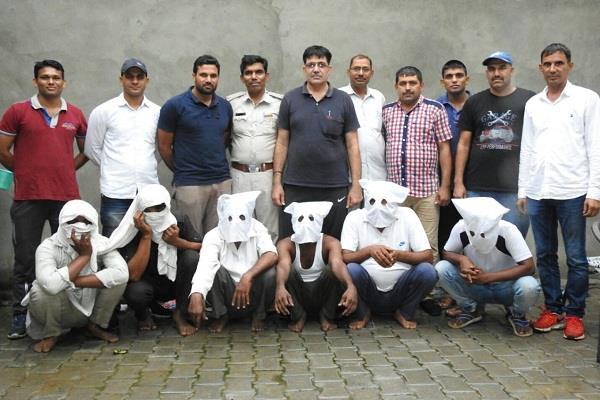 six drug smuggler arrested for smuggling ganja in haryana