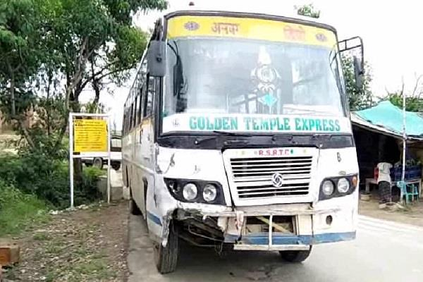 rajasthan roadways bus crushes youth death