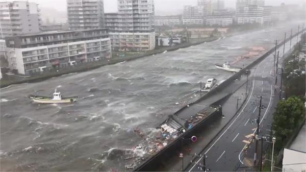 scenes of devastation in japan jebi typhoon death toll rises