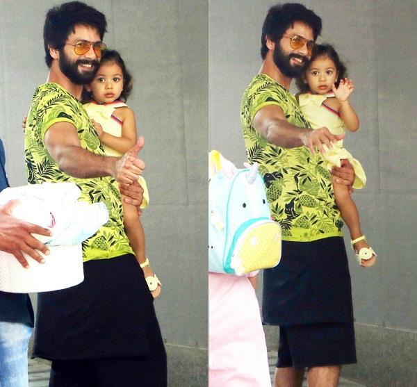 misha reached hospital with papa shahid