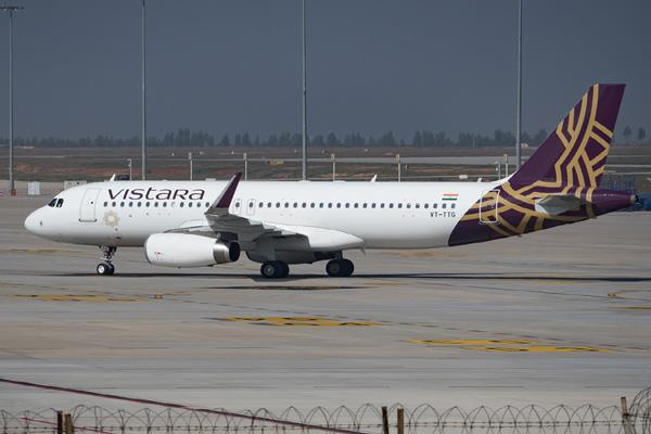 aircraft of the color expansion in the colors of tata airlines