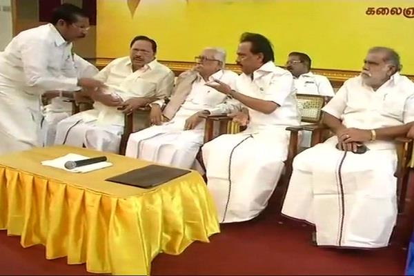 dmk accused of  electoral dictatorship  imposed on center
