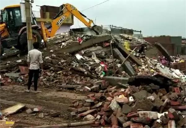 two storey house collapses