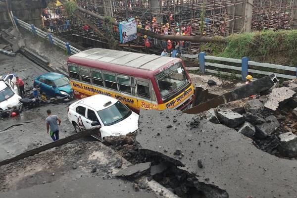 majerhat bridge in south kolkata has collapsed