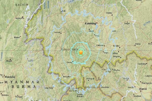 5 9 magnitude earthquake in china s yunnan province 14 people injured