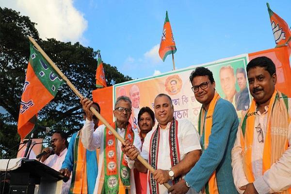 senior cpi m leader vishwajit datta joins bjp