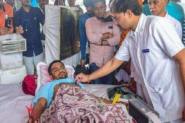 hardik released his will on the ninth day of the hunger strike