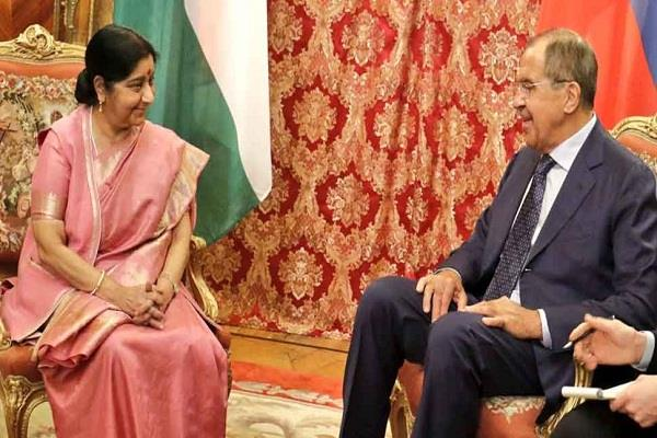 sushma swaraj arrives to co chair a key bilateral meeting