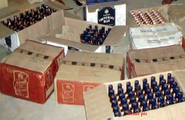 790 boxes of liquor recovered