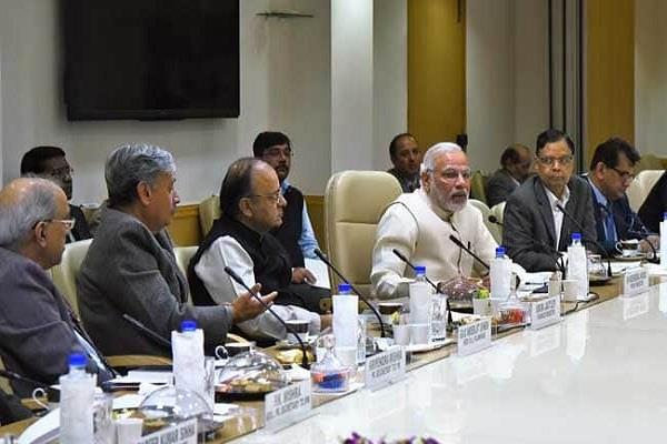 pm reviews with rising oil prices and officials with falling rupee